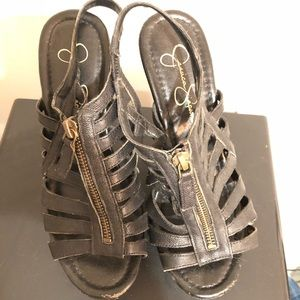 Jessica Simpson Shoes - SALE- Jessica Simpson Black Heeled Sandals